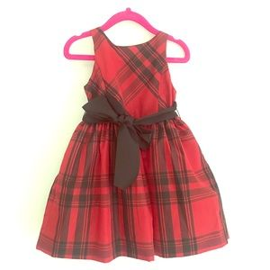 Ralph Lauren holiday plaid dress size 2T